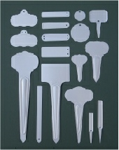 Metal Plant Markers - Aluminium Tags style