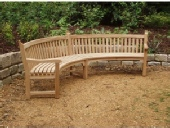 Garden Furniture - Curved Seat, Audley style