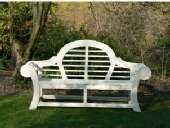 Garden Furniture - Medium Seat, Edo style painted white