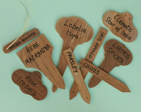 Wooden Plant Markers - Teak style