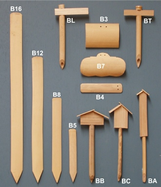 Wooden Plant Labels - Bamboo tags