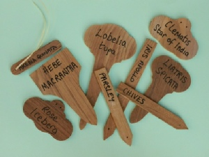 Wooden Plant Labels - Teak tags